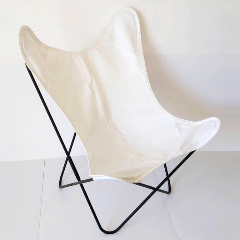 Fauteuil AA Butterfly toile blanche