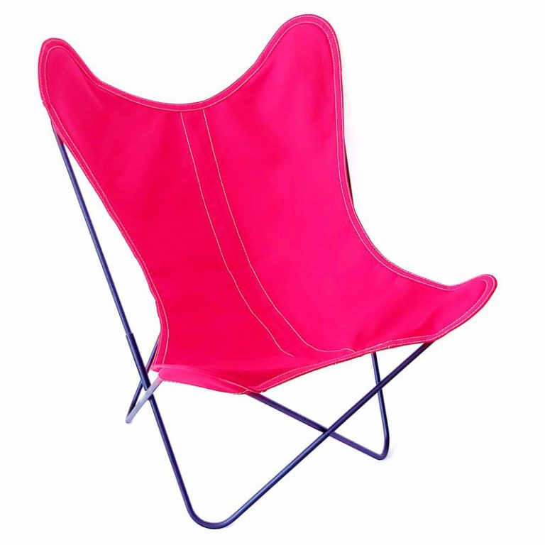 Fauteuil AA Butterfly toile cerise