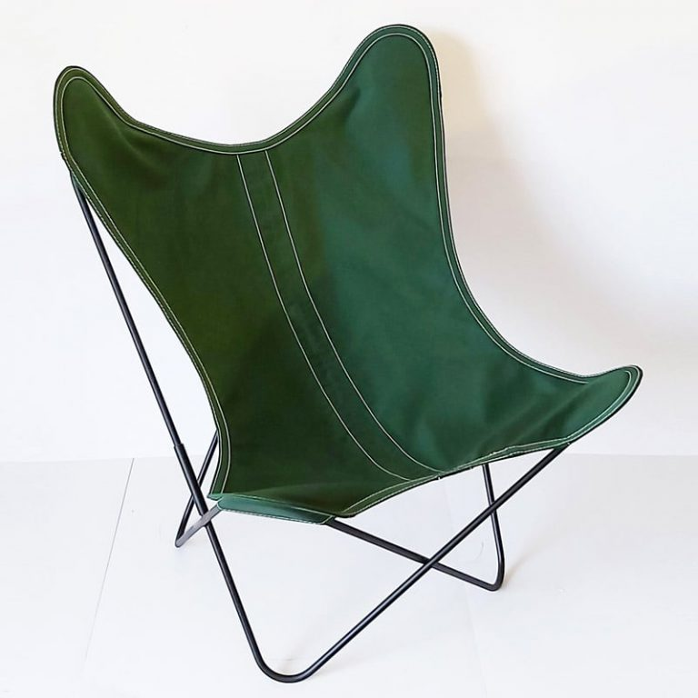 Fauteuil AA Butterfly toile olive
